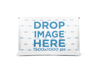 Horizontal Pillow Mockup Standing on a White Background a14954