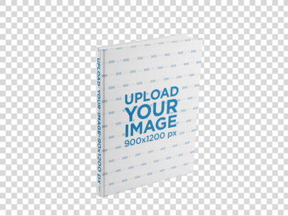 Book Mockup Standing Against a Transparent Background a15483