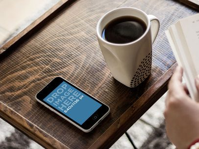 Portrait White iPhone 5c Wooden Table