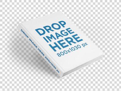 Hardback Book Mockup Falling on a Flat Surface a15678