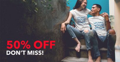 Facebook Ad - Happy Couple Sitting on Stair 1027