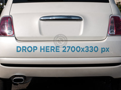 Mockup of a Sticker on a Car Back Bumper a15345