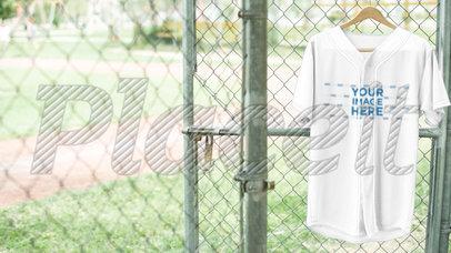 Baseball Uniform Builder - Jersey on a Hanger at the Field a16930