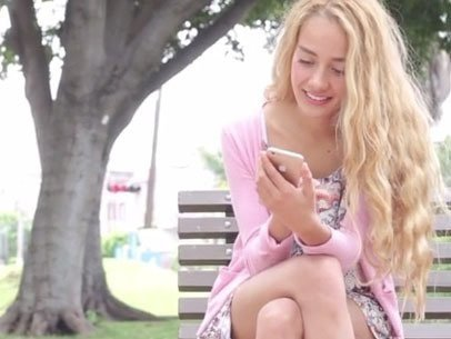 Gold iPhone 6 at the Park (With Gestures)