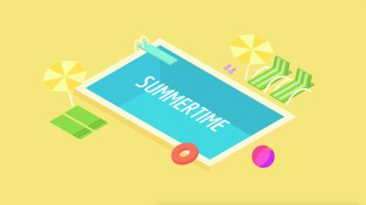 Text Animation Maker with Pool Graphics a130