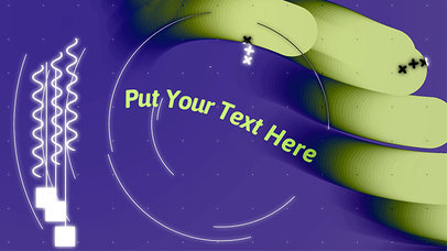 Text Animation Maker with Moving Circles a122