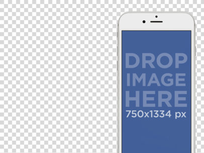 White iPhone 6 Mockup Template With Different Background Options