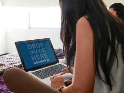 Girl MacBook Pro 13 Inch Notebook Bed