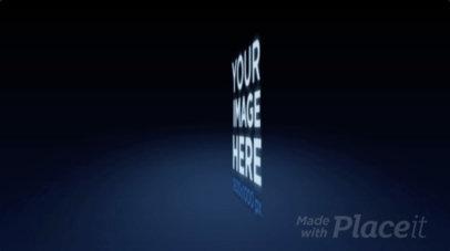 Logo Animation - Logo Floating Over Blue Halo 10