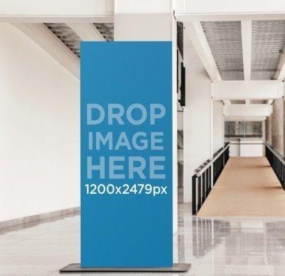 Banner Mockup at a University Hallway a4622