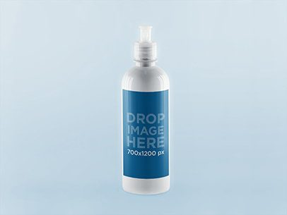 Photorealistic Label Mockup on a Spray Bottle a847