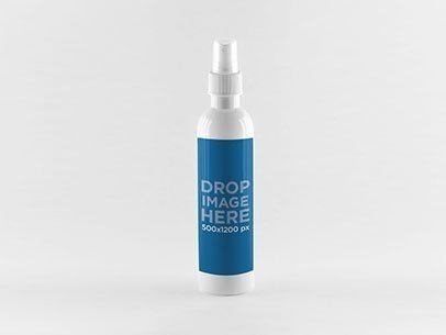 Label Mockup Featuring a Plastic Spray Bottle a852