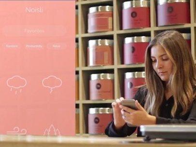 iPhone App Demo Video of a Woman at Tea Shop 8083a