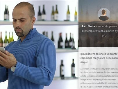 Man at a Wine Shop iPhone App Demo Video a8108