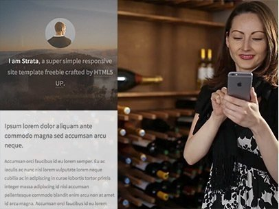 Woman in a Wine Cellar Using an iPhone App Demo Video z8566
