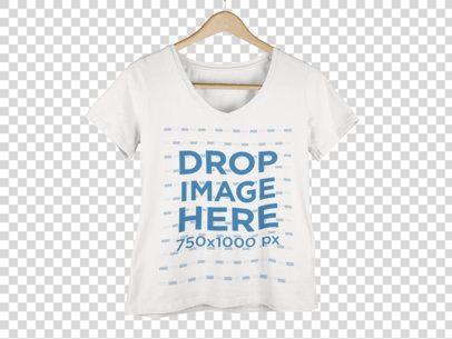 Women's V-Neck T-Shirt Mockup 9155a2