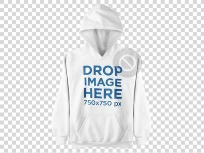 Hoodie Hanging Over a Flat Backdrop Clothing Mockup a9152