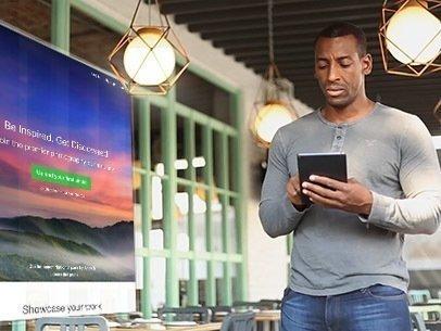 iPad App Demo Video of a Black Man in a Restaurant 9235a
