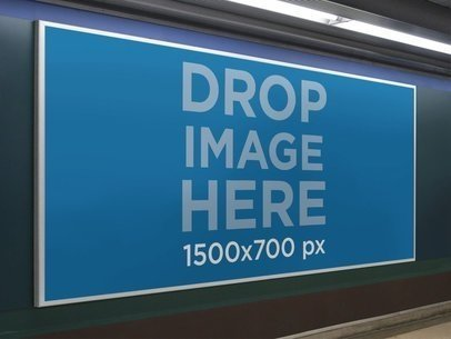Banner Mockup at a Subway Station a10458