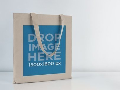 Tote Bag Mockup Over a White Background a11410