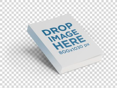 Floating Paperback Book Mockup Over a Plain Background a9883
