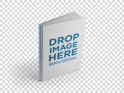 Angled Hardcover Book Mockup Over a Null Background a9923