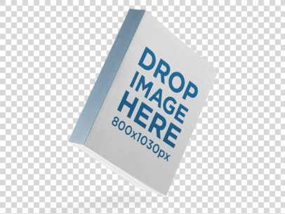 Thick Paperback Book Mockup Floating Over a Null Background a11617