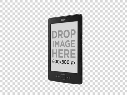 Angled Amazon Kindle Mockup Over a PNG Background a11812 print