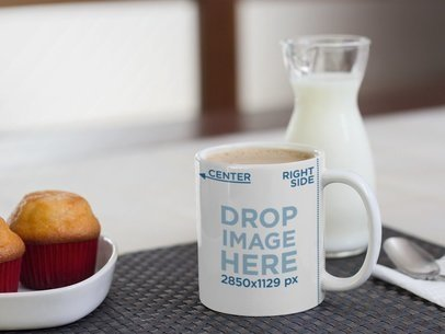 Mug Mockup with Muffins and Milk a12272