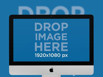 iMac Mockup with a Backdrop a12634