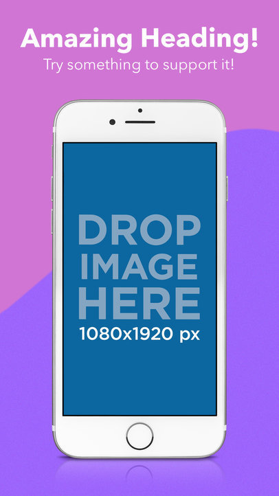 iPhone 7 White In Portrait Position iOS Screenshot Generator
