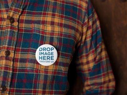 Button on a Lumberman Shirt Template a14323