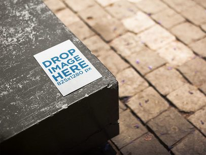 Half Letter Flyer Template on a European Bench a14731