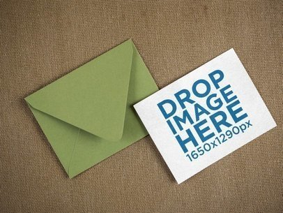 Template of a Green Envelope with an Invitation Besides It a14694