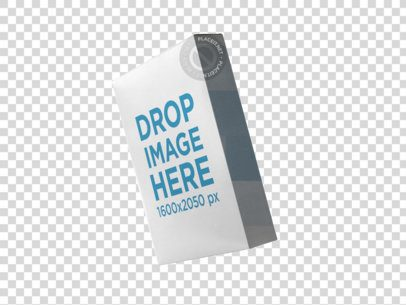Angled Software Box Template Floating Against a Transparent Backdrop a14763