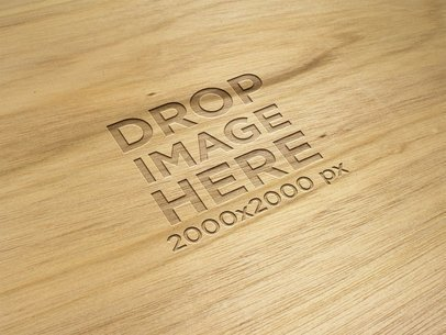 Bright Wooden Texture Mockup Logo a14815